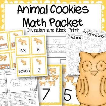 Animal Cookies Math Centers and Activities Packet D'Nealia