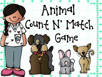 Animal Count N' Match Game