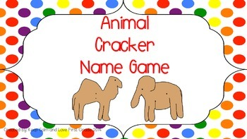 Animal Cracker Name Game