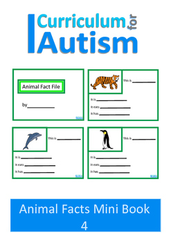 Animal Fact File Mini Book Set 4, Autism & Special Education