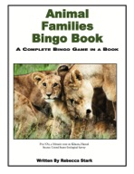 Animal Families Elementary Bingo Book