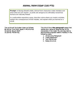 Animal Farm Essay Prompt