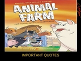 Animal Farm Important Quotes Power Point and Graphic Organizer