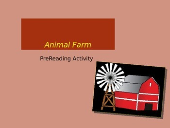 Animal Farm Pre and Post Reading Activity