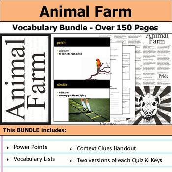 Animal Farm - Vocabulary Bundle