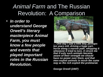 Animal Farm and Russian Revolution