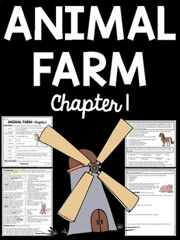 Animal Farm by George Orwell Chapter 1 Reading Comprehensi