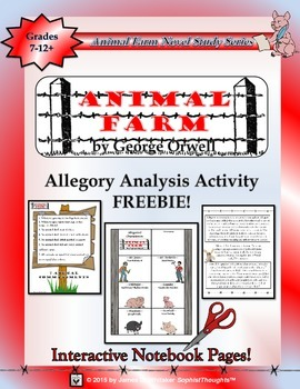 Animal Farm by George Orwell Interactive Notebook Activity