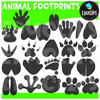Animal Footprints Clip Art Bundle