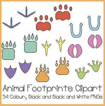 Animal Footprints Clipart