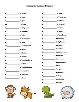 Animal Group Terms