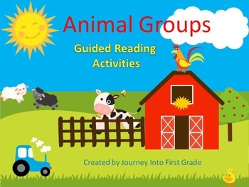 Animal Groups Guided Reading Activities (Journeys Unit 3)
