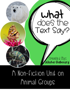 Animal Groups Non Fiction Text Packet