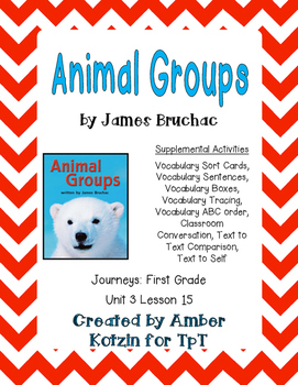 Animal Groups Supplemental Activities 1st Grade Journeys U