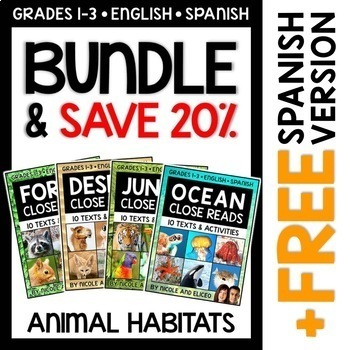 Animal Habitat Close Reading Bundle