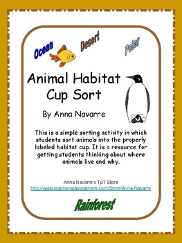 Animal Habitat Cup Sort