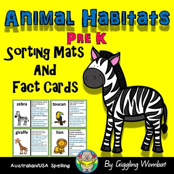 Animal Habitats Sorting Mats and Fact Cards
