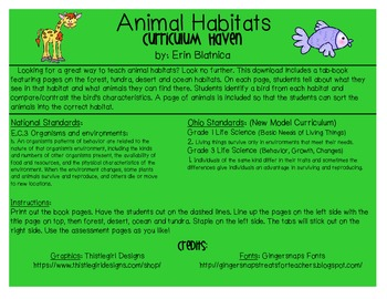Animal Habitats Tab-Book