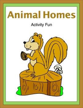 Animal Homes Activity Fun
