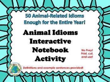 Animal Idioms Interactive Notebook