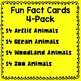 Informational Text Cards 4-Pack (arctic, ocean, woodland &