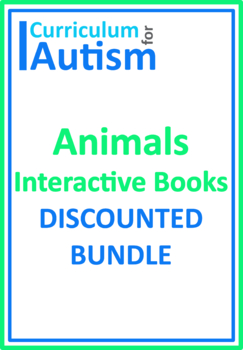 Animals Interactive Adapted Biology Books BUNDLE, Autism,