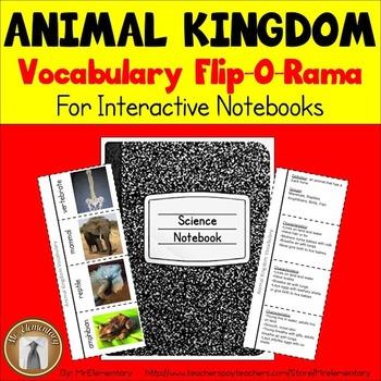 Animal Kingdom Vocabulary Interactive Notebook
