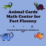 Animal Math Cards for Fact Fluency