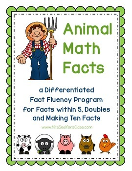 Fact Fluency- Animal Facts Bundle (K.OA.5)