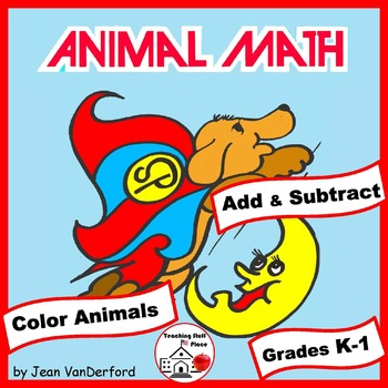 Addition and Subtraction | ANIMALS to Color by Number | NO