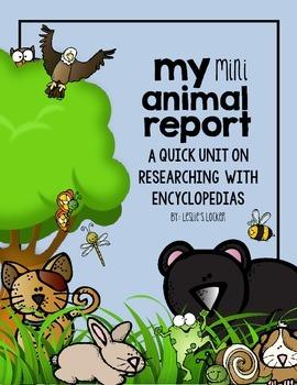 Animal Mini Report (a quick research skills unit)
