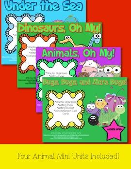 Animal Mini Unit Mega Pack! ~ Includes Graphic Organizers