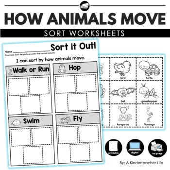 Animal Movement Sort Worksheet