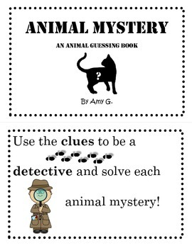 Animal Mystery Guessing Book Printable