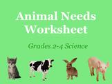 Animal Needs Worksheet