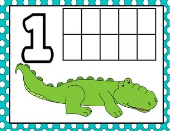 Animal Number Mats (1-20)