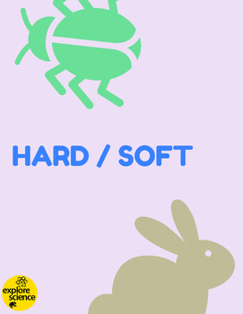 Animal Opposites: Hard/Soft Activity Kit (Ages 3-12, NGSS & CC)