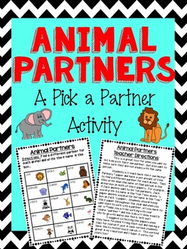 Find a Partner Activity-Animal Partners