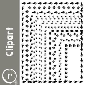 Animal Paw Print Borders