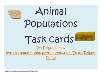 Extinct, Endangered, Threatened, Thriving Task Cards