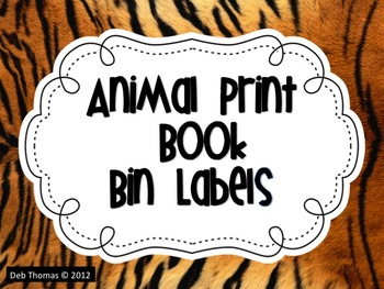 Animal Print Book Bin Labels (Editable)