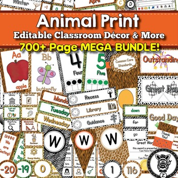 Animal Print Classroom Decor