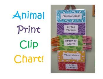 Animal Print Clip Chart