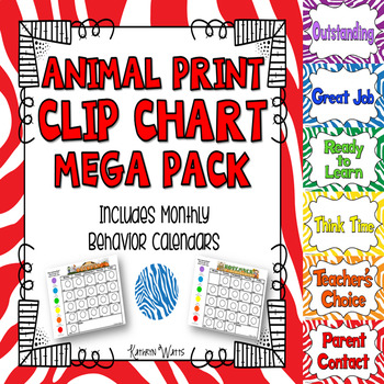 Animal Print Clip Chart Mega Pack