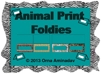 Animal Print Foldies