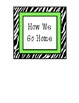 Animal Print - How We Go Home Labels