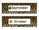 Animal Print Month Headings