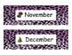 Animal Print Month Headings purple