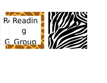 Animal Print Reading Group Labels