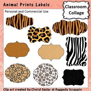 Animal Prints Labels C. Sesler